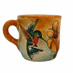 """Original, Handcrafted Artwork Our Colibri Mayolica pattern is a special favorite for all of us here at Rustica Gift & Pottery; it is Spanish for """"hummingbird"""" and its delicate charm has us captivated."""