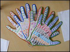 Du fil et mon...: Atelier Graphisme Maternelle mains