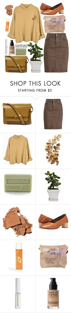 """""""The book is in the ocean"""" by anna-modestovna ❤ liked on Polyvore featuring Marni, Barbour, Joanna Laura Constantine, Branche d'Olive, Bobbi Brown Cosmetics, Robert Clergerie, HoneyBee Gardens and Lord & Berry"""