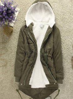 Shop High Quality Army Green Deluxe Korean Long Thicken Cotton Swallow Tail Coat At Dressve.Com, And The Price Is Low Only At US$37.99