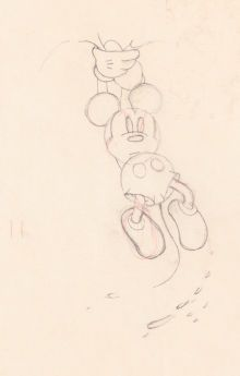 Mickey Mouse Production Drawing Walt Disney, 1929/30