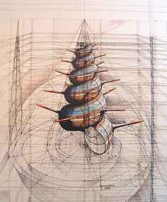 Back to the Drawing Table: Architectural Pencil & Pen Drawings of Nature
