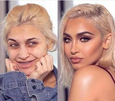 These Mind-Blowing Beauty Transformations Prove That Any Woman Can Look Like a Celebrity | Fashionisers© Glam Makeup Look, Gorgeous Makeup, Beauty Makeup, Makeup Looks, Hair Makeup, Beauty Makeover, Makeup Makeover, Dry Skin On Feet, Celebs Without Makeup