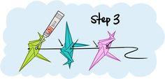 Hanging origami crane tutorial - San Smith