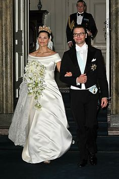 Crown Princess Victoria and the newly crowned Prince Daniel Westling