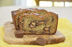 Banana bread with a generous helping of peanut butter and Reese's cups. This easy Reese's Peanut Butter Banana Bread recipe is a great breakfast or snack!