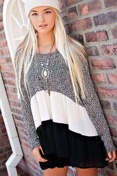 Slouchy layered tunic