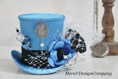 Image result for mini girls flat top hat