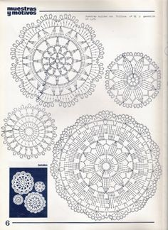 View album on Yandex. Crochet Mandala Pattern, Crochet Circles, Crochet Flower Patterns, Crochet Diagram, Crochet Chart, Crochet Squares, Filet Crochet, Crochet Tablecloth, Crochet Doilies