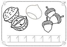 Después del patio, la seño Laura nos ha cantado la canción de la castañera y luego nos ha explicado la ficha del número 1, donde teníamos q... Snoopy, Education, School, Fictional Characters, Maths, Art, Ideas, Homeschool, Autumn