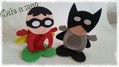 Porta Bombom Batman- Robin  Confeccionado em Eva  Perfeito para sua lembrancinha  Encaixe para um bombom tipo sonho de valsa