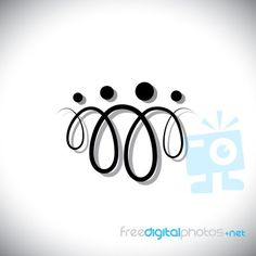 Norwegian Symbol for Family | Norwegian Symbols For Family Family of four people abstract