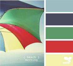Beach morning color palette