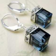 Earrings ~ Blue and Silver