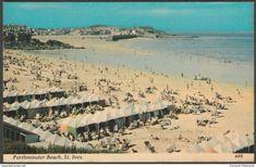 Porthminster Beach, St Ives, Cornwall, c.1960s - Harvey Barton Postcard