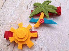 Fun in the Sun Hair Clip Set for Baby or Girl by PunkyPunkinCreations, $3.00