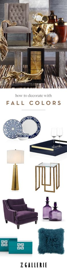 Discover our signature colors of the season and their complementary palettes to help you infuse color into a home you'll love. Explore Fall's Color Forecast on zgallerie.com.