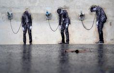 Streetart mit Humor - Levalets neueste Werke in Paris. http://www.levalet.org/