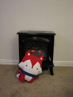 Stuffed Fox, Fox Pillow, Woodland toys, Fox Toy, Plush Fox, Toddler Toys, Soft toys, Christmas toys, kids room decor