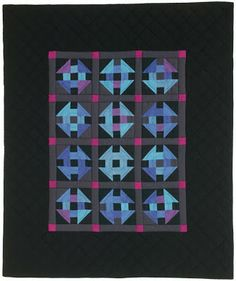 """Amish Glow"" by John Kubiniec at Big Rig Quilting; free lap quilt pattern download at McCall's Quilting. Posted at Quilt Inspiration"