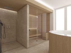 Private spa with jaccuzzi and dry sauna Dry Sauna, Czech Republic, Alcove, Bathrooms, Spa, Bathtub, Design, Standing Bath, Bathtubs