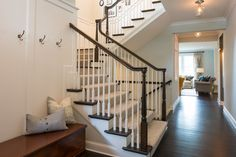 Classic Traditional - REFINED Stair Posts, Stairways, Family Room, Entryway, Cottage, Cozy, Warm, Traditional, Tatoos