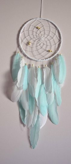 Mint White Nursery Dream Catcher Boho DreamCatcher Wall