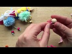 How to Make a Pom Pom Fairy Decoration or Toy - YouTube