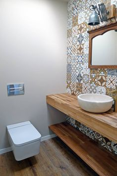 Need 2 writing desks for the girls bedrooms. Like the simple white desk. Bathroom Design Small, Bathroom Interior Design, Rental Bathroom, Downstairs Toilet, Small Toilet, White Desks, Wood Bathroom, Bathroom Styling, Bathroom Inspiration