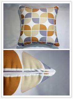Piping Canvas Geometric cushion cover