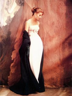 Suzy Parker in Jacques Griffe, photo by John Rawlings, Vogue, October 15, 1953