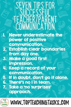 7 Tips for Successful Parent-Teacher Communication. When I surveyed trainee teachers on topics they would like advice on, the resounding and clear winner was tips for Successful Parent-Teacher Communication. From memory, this topic wasn't something covered when I was going through teacher training. However, there are so many benefits for parents being active in their child's education, and clear communication will help this to occur! Parent Teacher Communication, Clear Communication, Classroom Hacks, Primary Classroom, Positive Notes Home, Parent Teacher Meeting, Social Studies Activities, Parents As Teachers, Teaching Materials