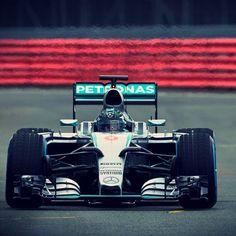 Nico Rosberg tests out the 2015 silver arrow ....Nico Rosberg instagram