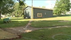 Seville Ohio Wiffle® Ball Field of the Month Backyard Baseball, Wiffle Ball, Concrete Statues, Field Of Dreams, Green Monsters, Seville, Baseball Field, Ohio, Golf Courses