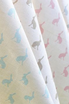 Mini hares in lots of Colours by Peony and Sage Linens