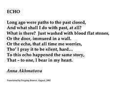 Anna Akhmatova, Echo