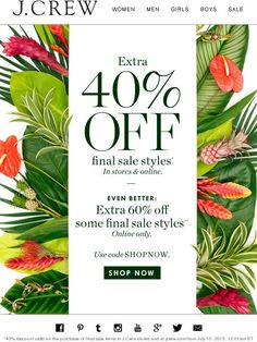 Wild about this sale: up to an extra 60% off final sale styles - J.Crew