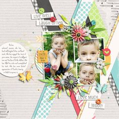 Layout Sample of Spring Has Sprung | Collection by Akizo Designs