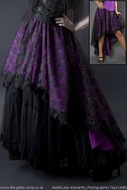 Violet Clarisa Dentelle Superbe Fishtail gothique Jupe