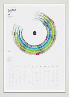 Infographic Calendar 2012 by Martin Oberhäuser  Ein Kalender - Verbindung aus poly- und monochron, finde ich...