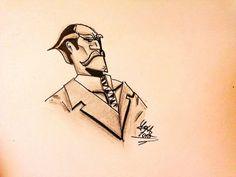 Bussines man - Steampunk draw