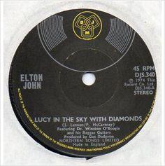 "Elton John - Lucy in the sky with diamonds 2 track 7"" vinyl single record DJS340"