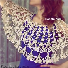 Light Capelet By Fionitta - Free Crochet Diagram - (fionitta)