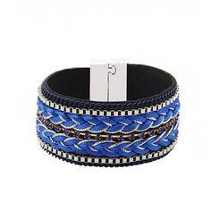 Folk Woven Bracelet with Magnetic Fastening