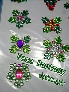 Custom made gems for Christmas facepaint or for Anna/Frozen facepaintdesign