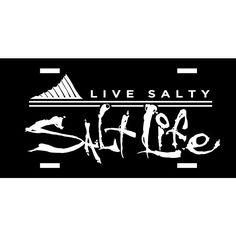 This Salt Life Fin Forward license plate is made from durable PVC and features a printed graphic. This license plate has a clear coat finish…