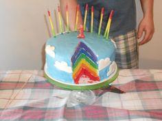 The infamous RAINBOW CAKE :)