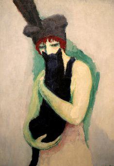 'Woman with Cat' | Kees van Dongen (1908)
