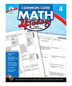 Take a look at this Common Core Math 4 Today: Grade 4 Activity Book by Carson-Dellosa Publishing Company on #zulily today!