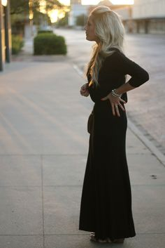 black jersey maxi dress, must have